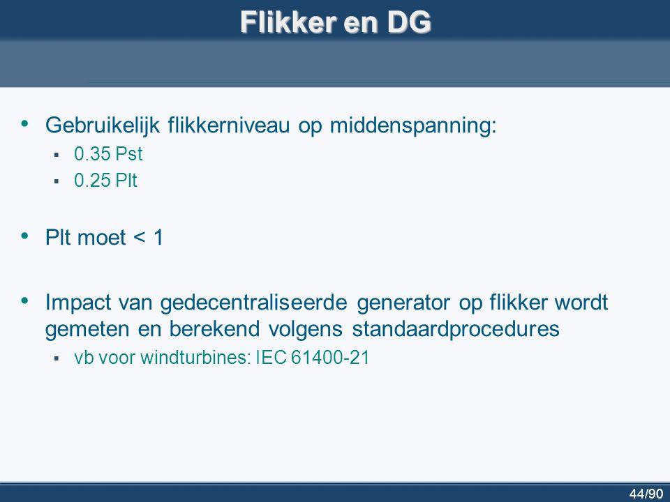 45/90Besluit Wat is bovengrens voor DG.