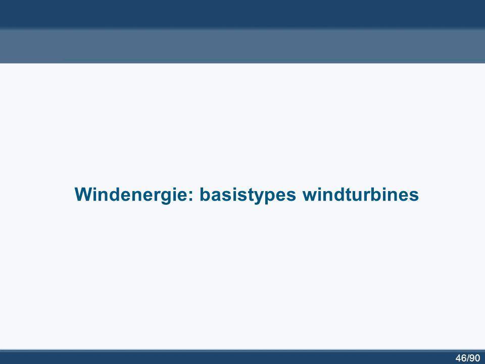 47/90 Geïnstalleerd windvermogen in Europa Geïnstalleerd [MW] eind 2005 Niew [MW] 2006 Geïnstalleerd [MW] eind 2006 Duitsland18.4152.23320.622 Spanje10.028158711.615 Denemarken3.128113.136...
