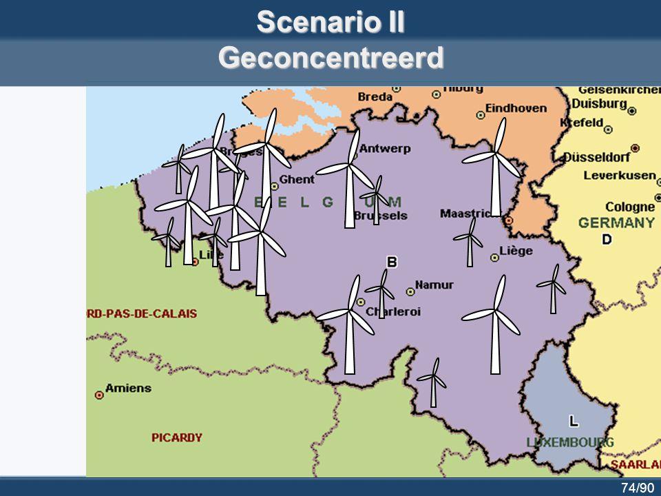75/90 Scenario III Eén windpark in zee