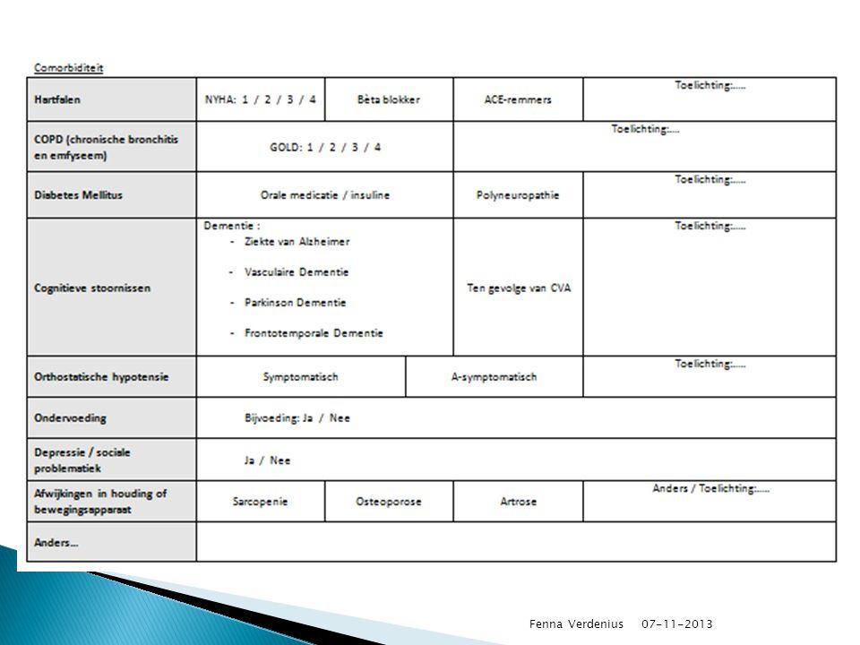 Opstellen checklist. Opstellen structuur-, proces- en uitkomst indicatoren.