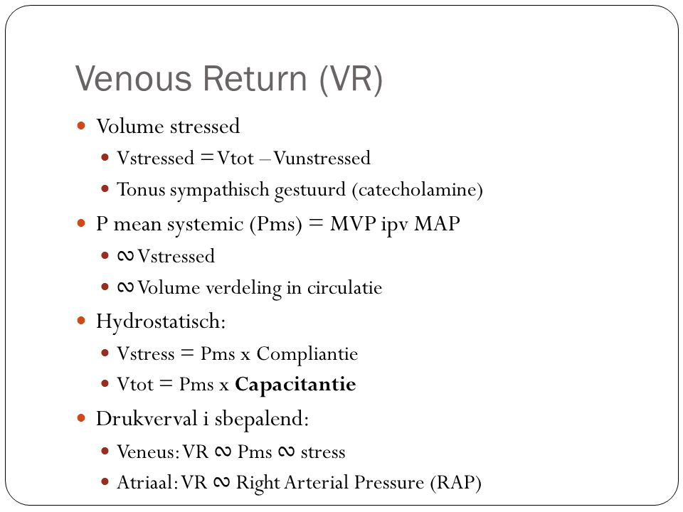 Atriale vulling: 1.VR begint met vrije stroom ∾ Pms 2.