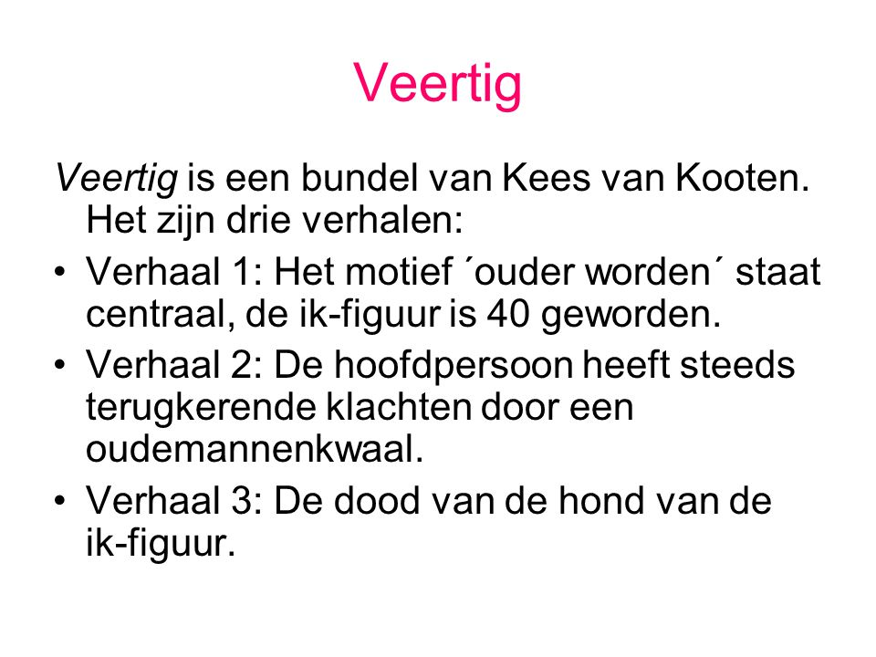 Thema? Verval of aftakeling