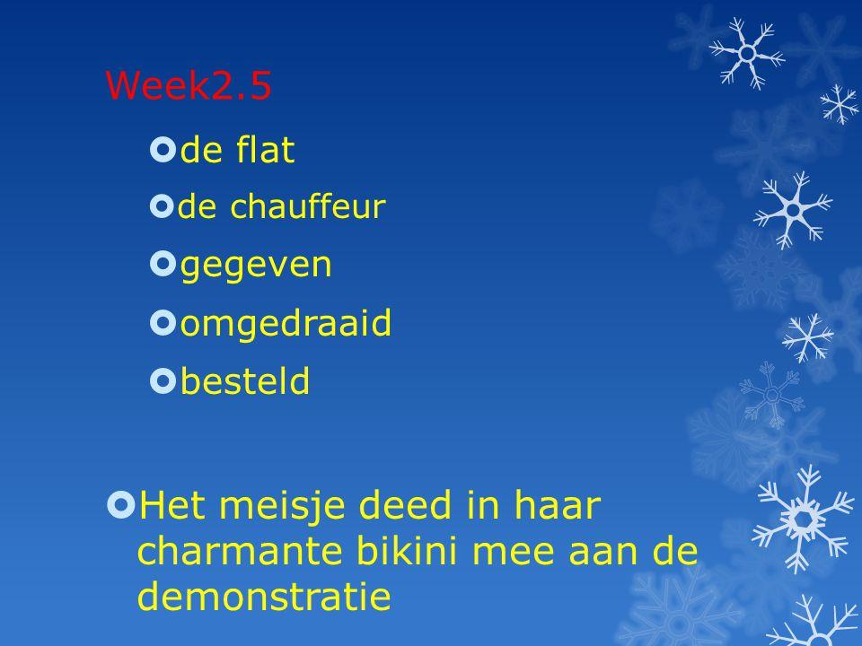 Week 3.1  De enquête  Gelachen  Gespaard  Veranderd  De Chips  De commissie beantwoordt een vraag van Mark van der Steeg.