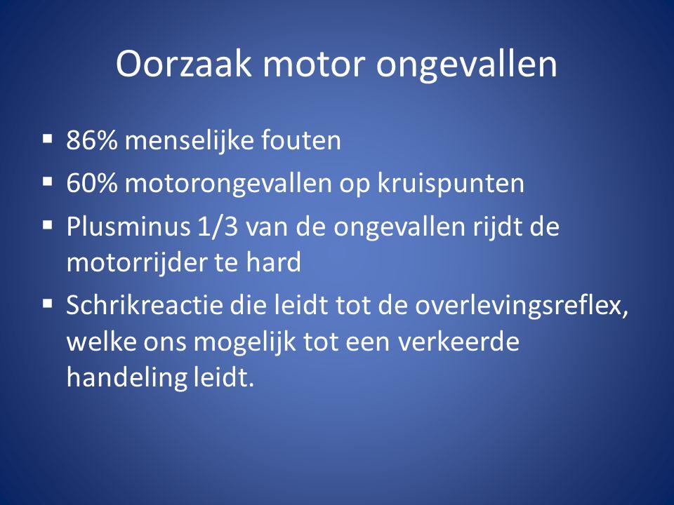 Preventie Passieve maatregelen zoals:  Goede motorkleding  Goede helm (integraal- systeem of jethelm)  Onderhoud motor  Banden en bandenspanning  ABS  Motorvriendelijke vangrail