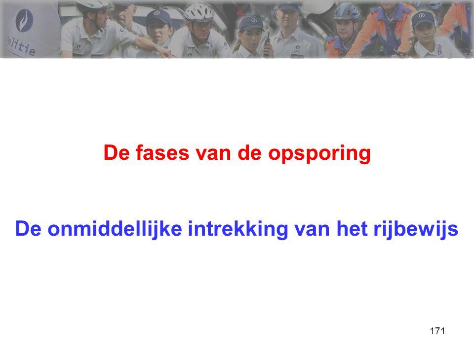 172 De gevolgen > tijdelijk verbod > intrekking rijbewijs Intrekking rijbewijs Ingevolge COL 08/2006 en COL 09/2006 dient het parket ingelicht te worden in volgende gevallen die betrekking hebben tot drugs in het verkeer indien: De overige modaliteiten m.b.t.