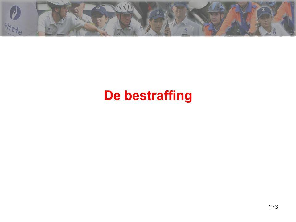 174 De bestraffing Opsomming >>> zie cursus