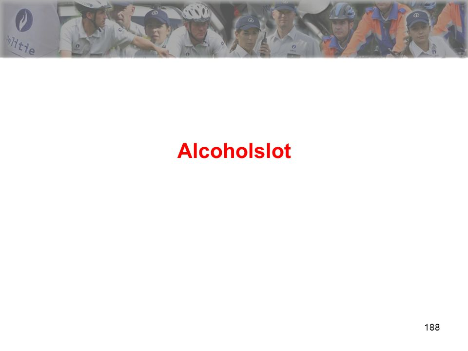 189 Alcoholslot Wetgeving is er….KB-technische specifiteiten is er niet ….