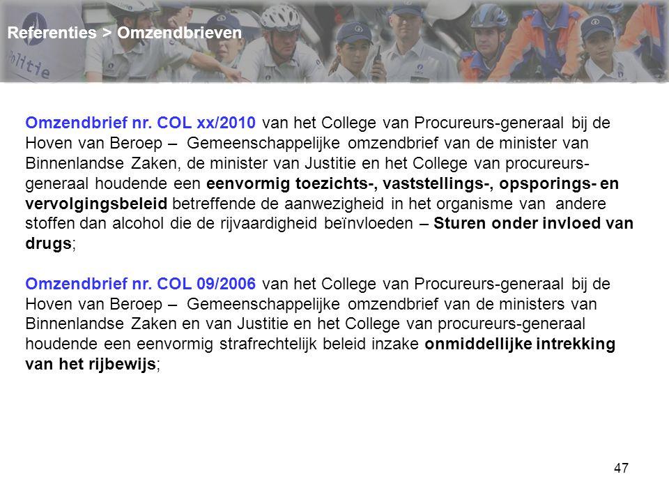 48 Referenties > Omzendbrieven Omzendbrief nr.COL 08/2006.