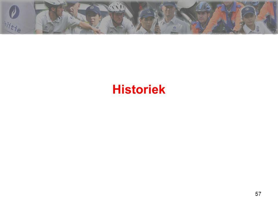 58 Historiek  Tot 05/12/2000 : art 35 Wegverkeerswet (dronkenschap)  Vanaf 05/12/2000 tot 01/10/2010  Vanaf 01/10/2010 :  Tests : gestandaardiseerde testbatterij + urinetest  Bloedproef  Nieuwe procedure