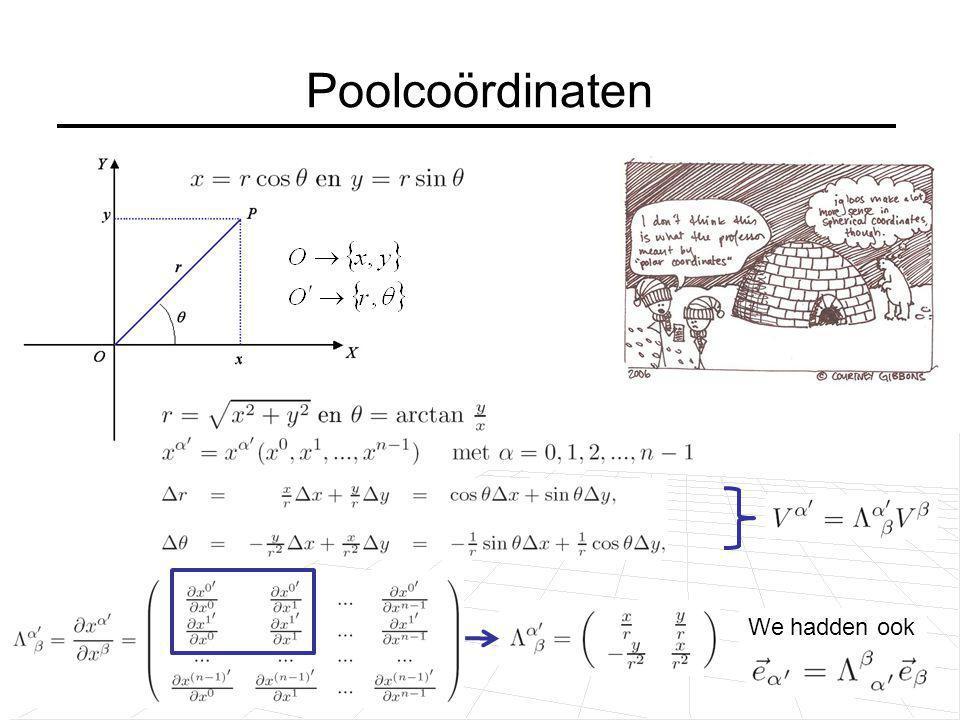 Poolcoördinaten We hadden ook Vector is onafhankelijk van coördinatenstelsel