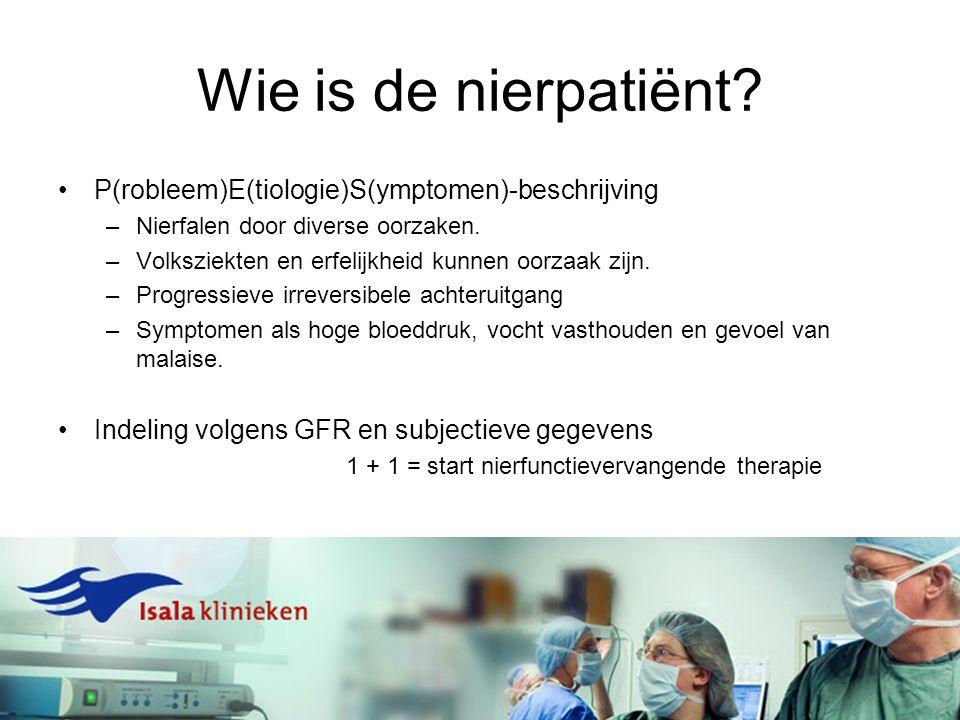 Uitstellen nierfunctievervangende therapie MOGELIJK.
