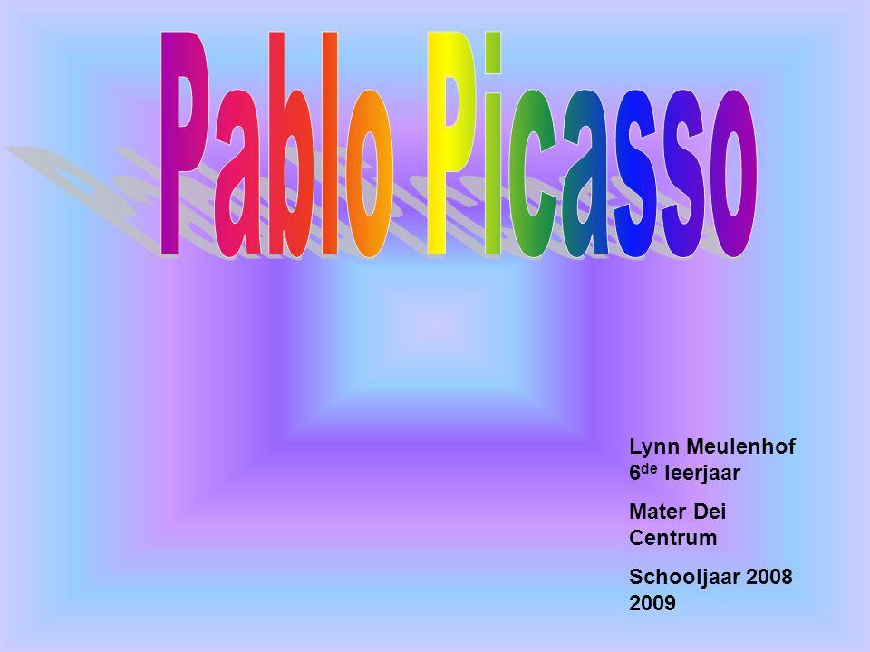 Inleiding *Pablo Ruiz Picasso (Picasso) *Bekend door schilderijen en beeldhouwwerken *Geboren op 25 oktober 1881 in het Spaanse Malaga *Stierf 8 april 1973in Mougins in Frankrijk *Hij werd dus 91 jaar *Woonplaats Spanje