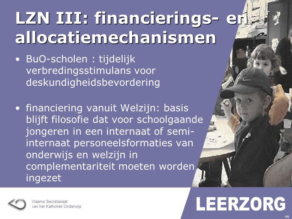 Vlaams Secretariaat van het Katholiek Onderwijs 47 LZN III: financierings- en allocatiemechanismen leerlingen met paramedische ondersteuning via revalidatiecentrum komen niet meer in aanmerking voor omkadering onderwijs hoe GOK in BuO te concipiëren: nog verder onderzoeken