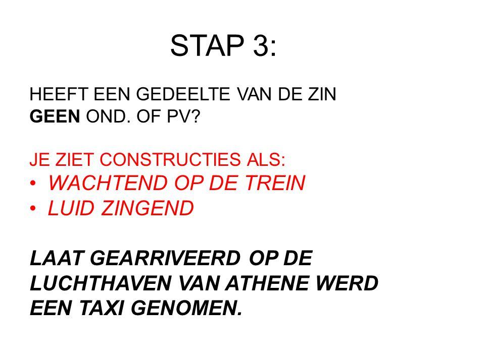 STAP 3 LAAT GEARRIVEERD OP DE LUCHTHAVEN VAN ATHENE WERD EEN TAXI GENOMEN.