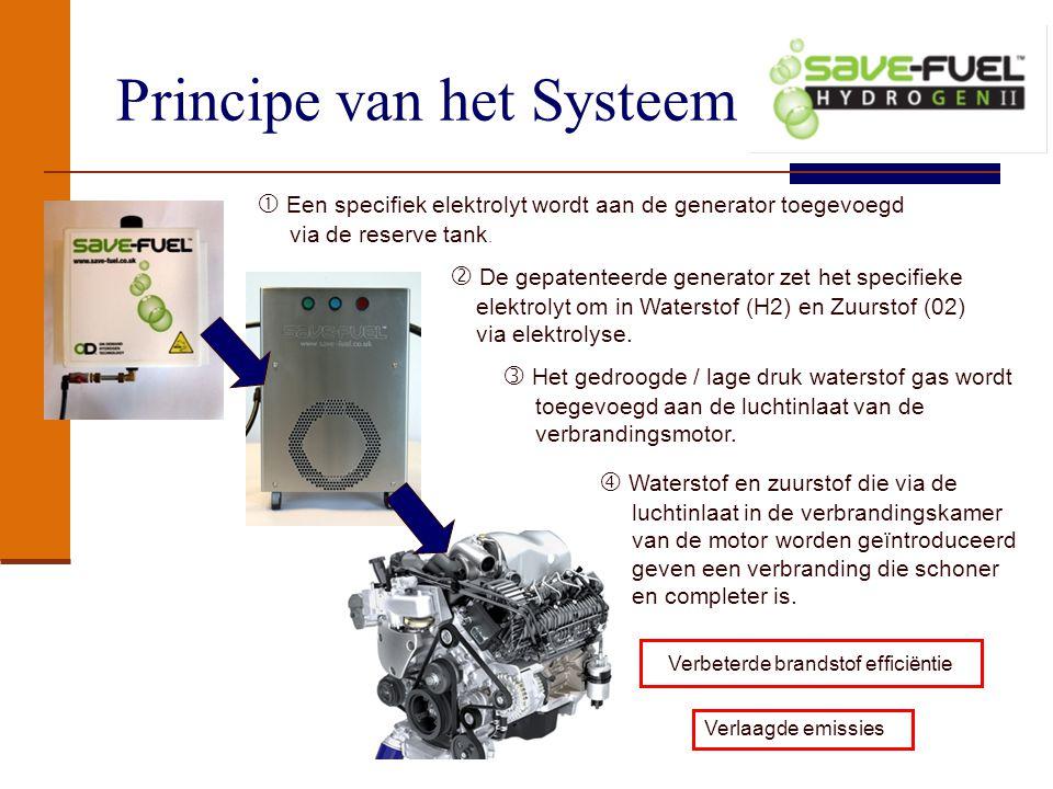Systeem Specificaties en Opbouw Het waterstof generator systeem bestaat uit 4 delen welke geinstalleerd worden op de vrachtwagen zonder aanpassingen of modificaties aan het voertuig.