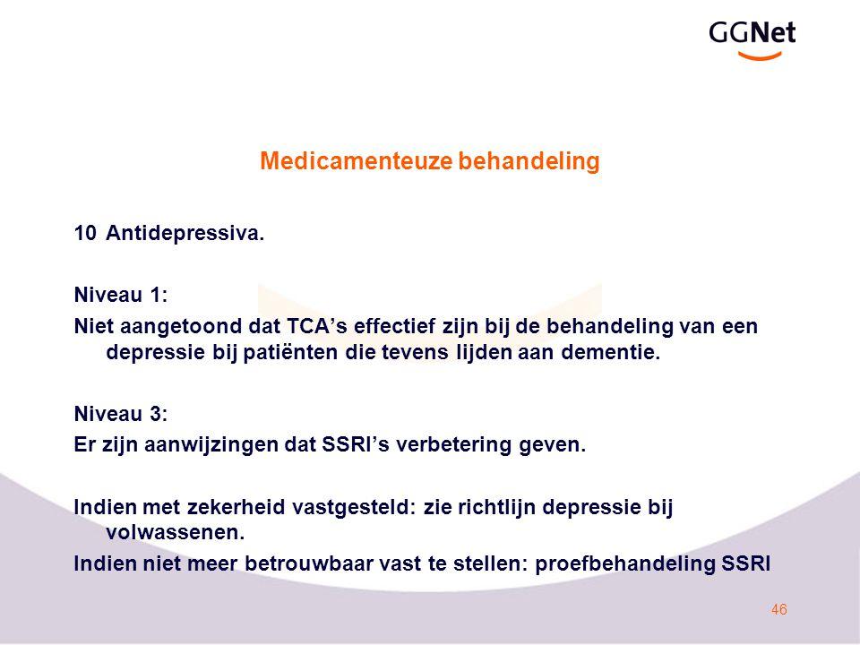 47 Medicamenteuze behandeling 11Stroomdiagram Probleemgedrag, p124.