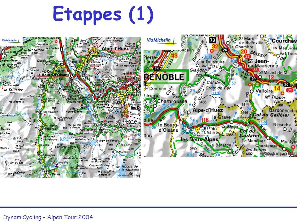 Etappes (1) Dynam Cycling – Alpen Tour 2004