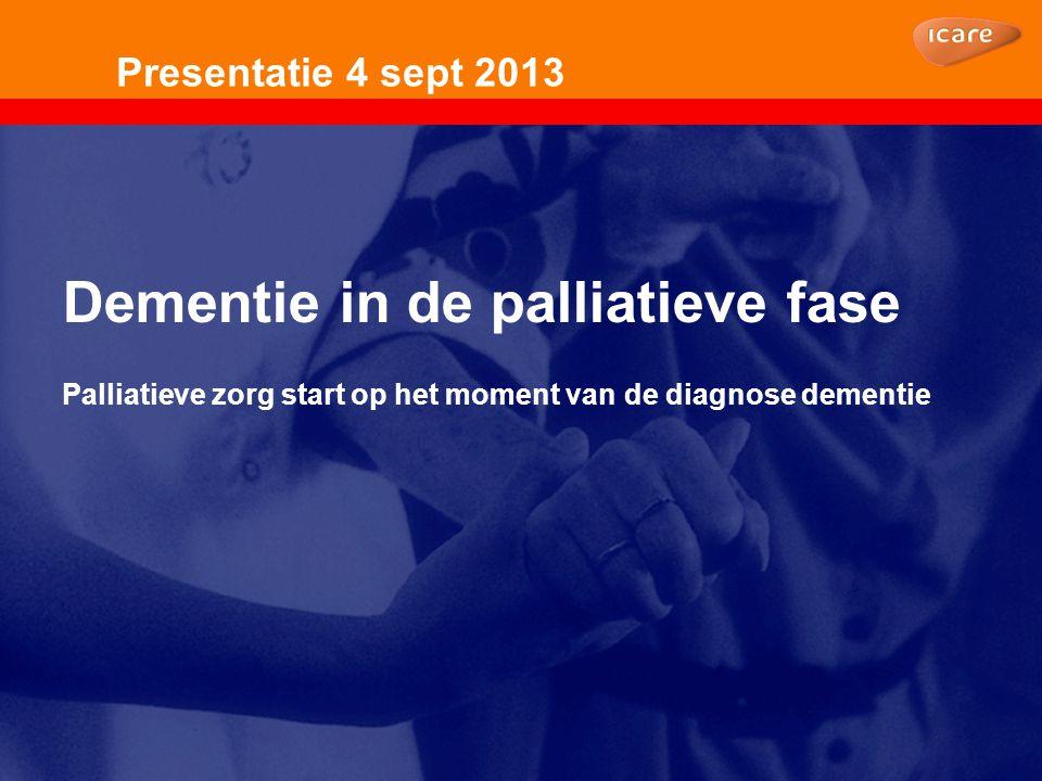 Dementie in de palliatieve fase Onderwerpen:  Gedragsproblemen in de palliatieve fase van dementie (Onbegrepen gedrag bij dementie)  REPOS  Mantelzorger  Thuistechnologie
