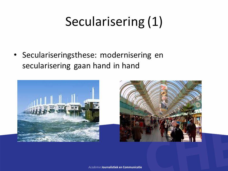 Secularisering (2) Peter Berger Europa is de uitzondering, niet de Verenigde Staten Orthodoxe groepen overleven het beste Terugkeer van religie: Islam, nieuwe vormen van spiritualiteit