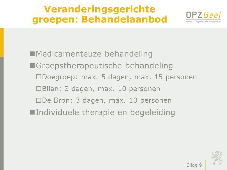 Dagkliniek Volwassenen OPZ Geel Veerkracht-outcome-onderzoek Rapportage na drie jaar Studiedag Geel 6 december 2012