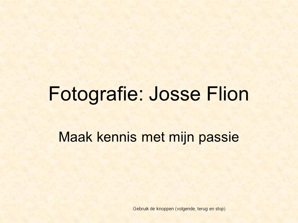 Josse Flion Artisanale - fotografie Brusselsestwg.
