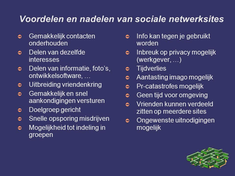 Twitter of traditionele netwerksites .