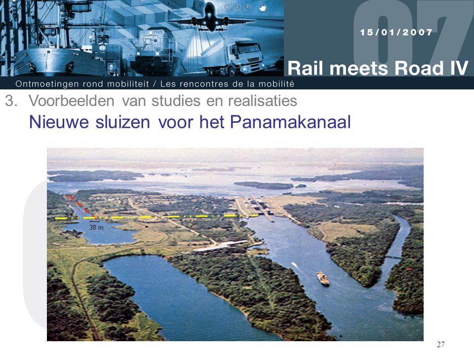 28 Nieuwe sluizen voor het Panamakanaal Afmetingen voor Post-Panamax vaartuigen met 55 m breedte, 386 m lengte en een diepgang van 15,2 m Transfert van Europese technologie Sluisdeuren van het roldeurtype, zoals o.a.