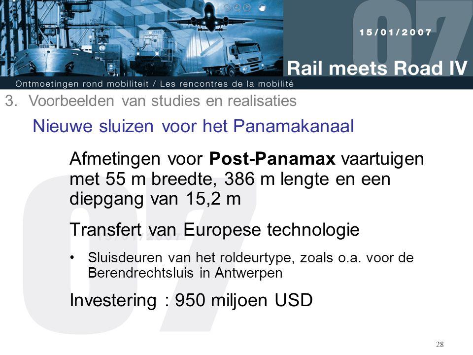 29 Steeds grotere schepen: Post-Panamax 3.Voorbeelden van studies en realisaties