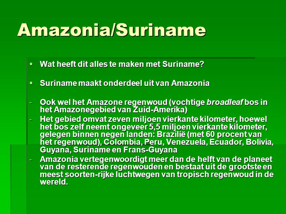 Economische ontwikkeling/Suriname  Suriname is trots op haar deel van Amazonia, en ook op de economische ontwikkeling die het land de laatste jaren door maakt  Onlangs maakte Stichting Planbureau Suriname bekend, dat de groei van de reële economie gemiddeld 5% à 6% bedraagt  De groei is het resultaat van gunstige exportprijzen in de mijnbouw sector en toegenomen exportvolumes van met name goud, toerisme en rijst  Inflatie is stijgende: 8,3% door stijgende olieprijzen en voedselcrisis.