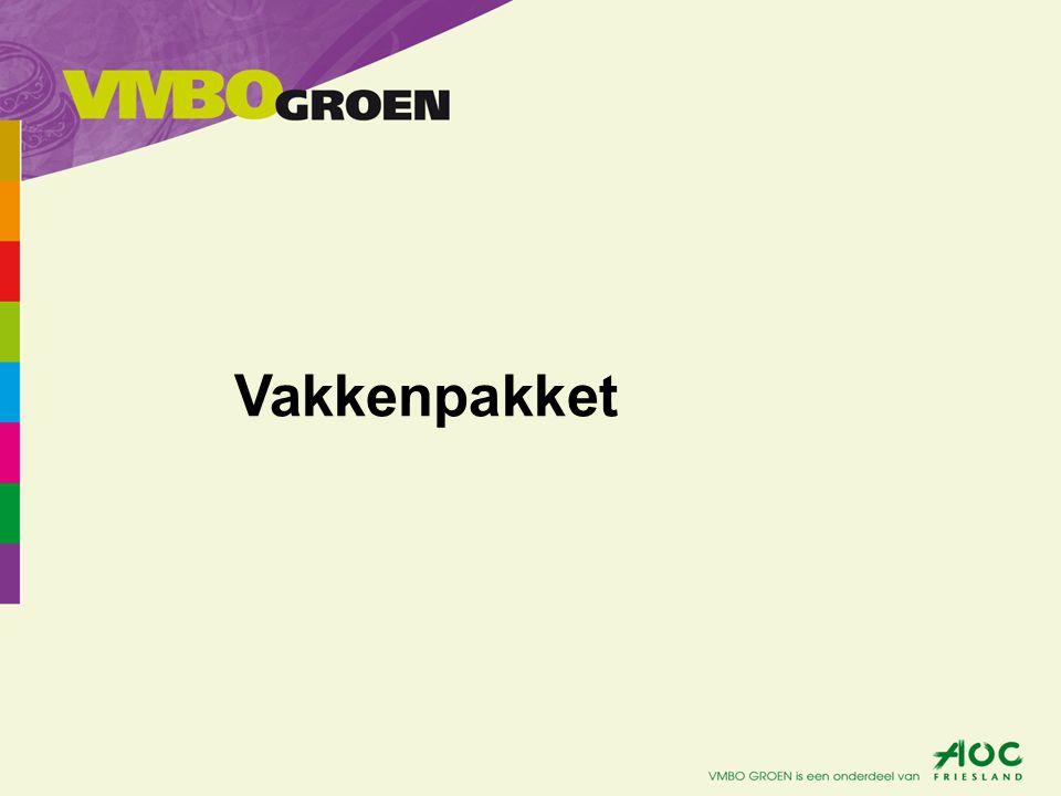 Verplichte vakken: Nederlands Engels Wiskunde Maatschappijleer C.K.V.