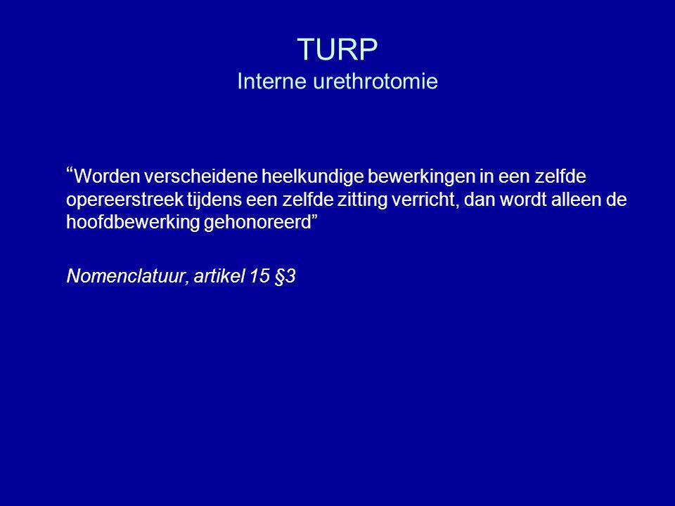 TURP Immunohistologisch onderzoek Percentage per ziekenhuis