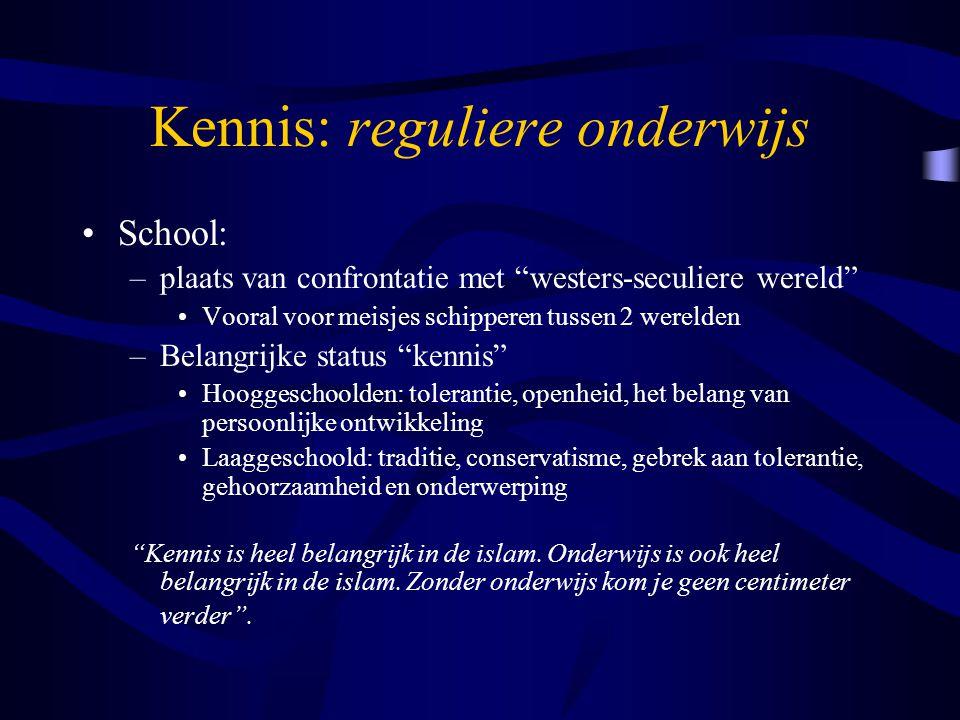 Kennis: islamonderwijs => De 'honger naar kennis' : enorme gebrek aan religieuze kennis kennis van legitieme en authentieke bronnen om informatie op te zoeken.