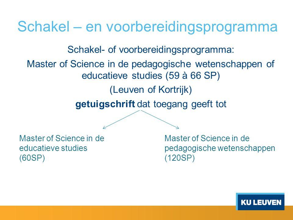 Schakel – en voorbereidingsprogramma pedagogische wetenschappen of educatieve studies 1.