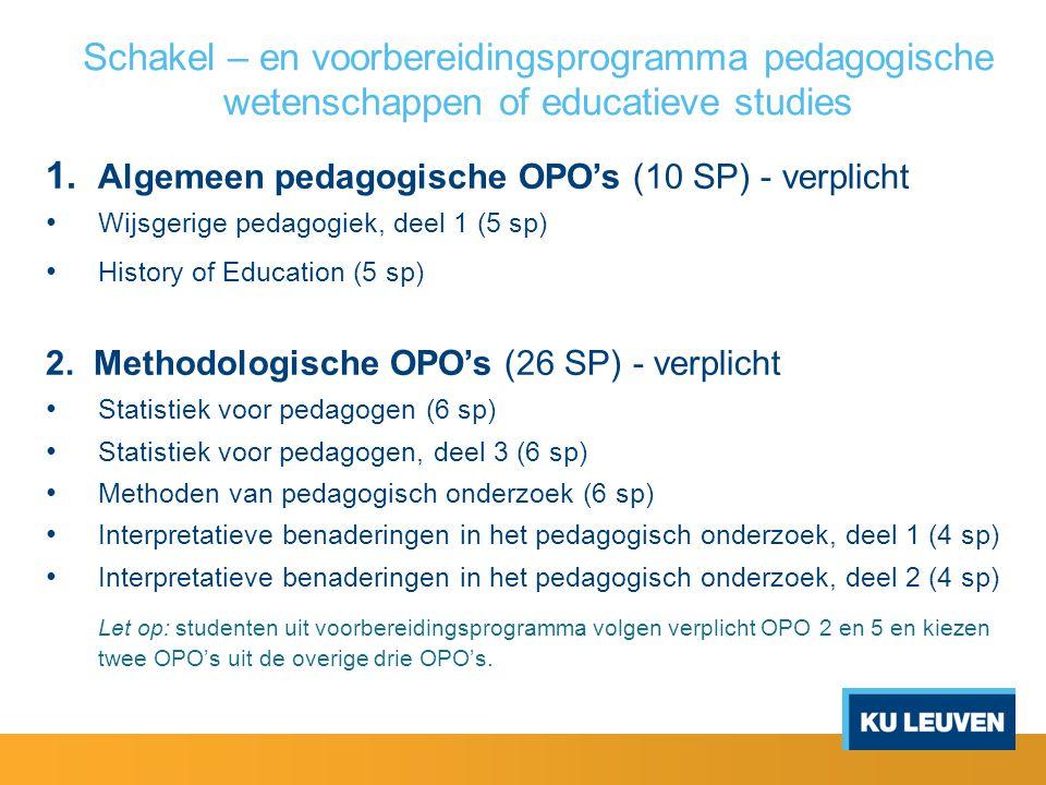 Schakel – en voorbereidingsprogramma pedagogische wetenschappen of educatieve studies 3.