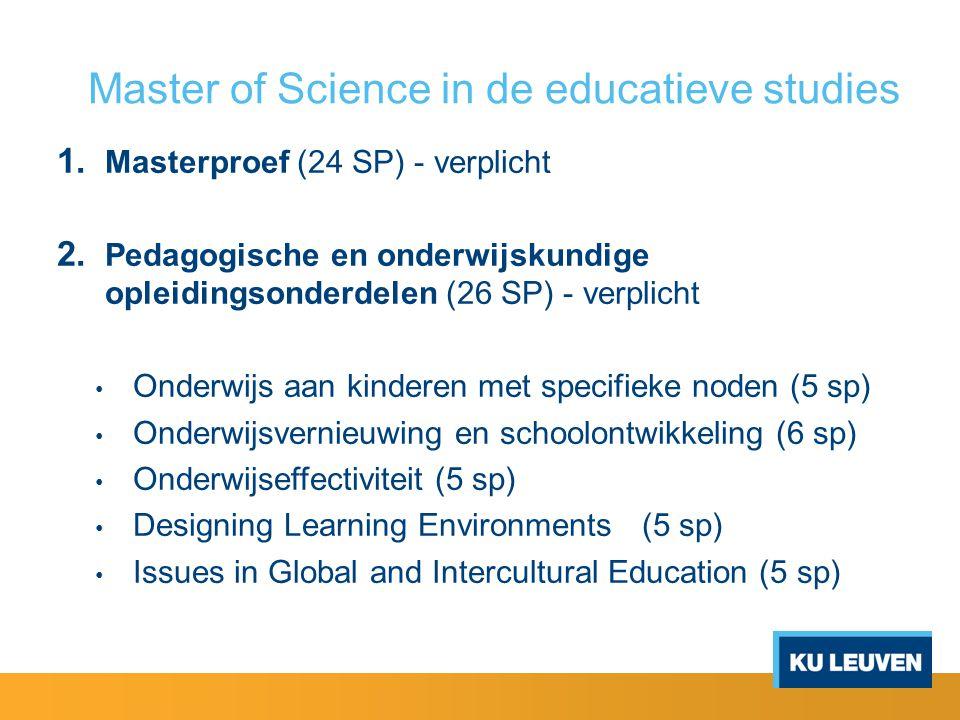 Master of Science in de educatieve studies 3.
