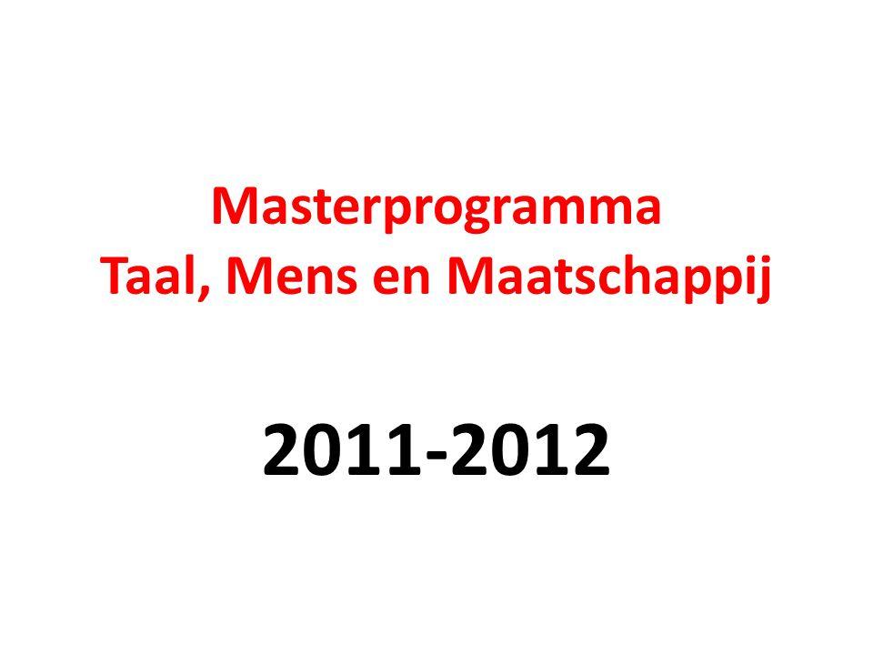 1-jarig Master programma Academisch-Professionele Master