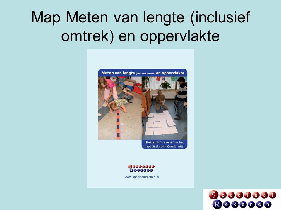 Inhoud van de map Meten Voor de twee onderdelen 'lengte (inclusief omtrek' en 'oppervlakte': Grafische leerlijn en leerlijnbeschrijving Lessenseries Geschikte activiteiten uit de methoden