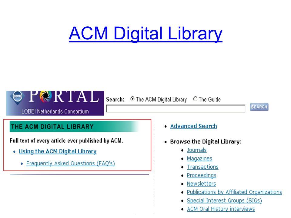ACM basic search (DL)