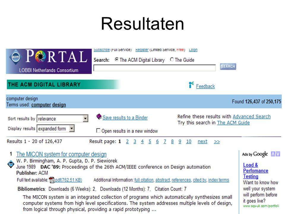 ADVANCED SEARCH (DL) Verfijnen zoekactie: –Jaar van uitgave