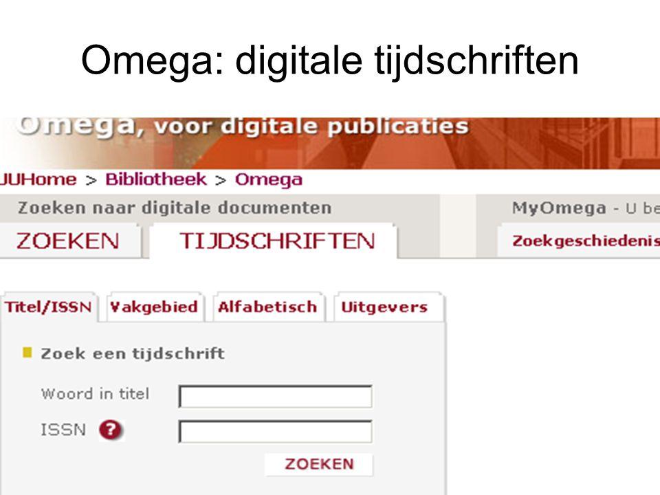 OMEGA tijdschriftenlijst Informatica