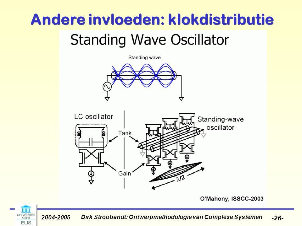 Dirk Stroobandt: Ontwerpmethodologie van Complexe Systemen 2004-2005 -27- Andere invloeden: inductantie