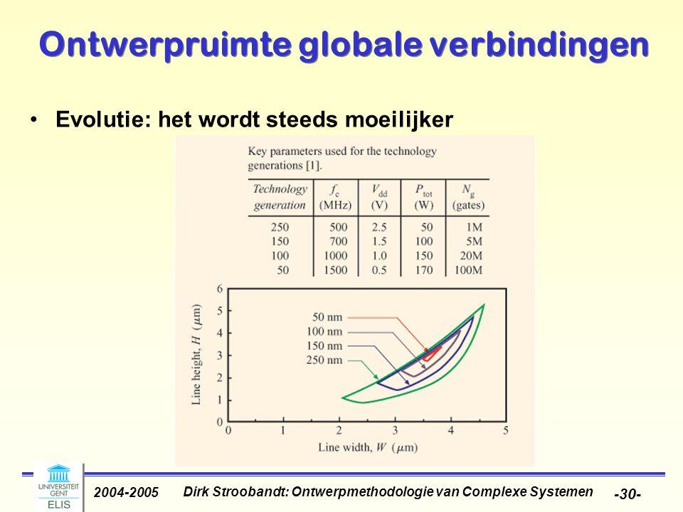 Dirk Stroobandt: Ontwerpmethodologie van Complexe Systemen 2004-2005 -31- Oplossingen Verminderen van r en c –Cu i.p.v.