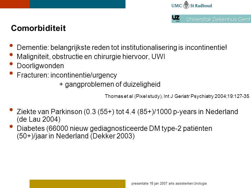 presentatie 18 jan 2007 arts assistenten Urologie Pitfalls in diagnose OAB: Sy.
