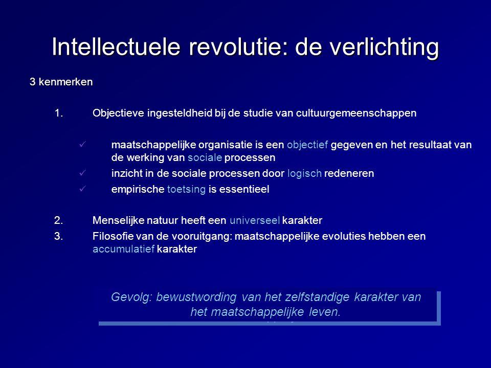 De Franse revolutie De overtuiging groeit dat een maatschappelijk orde kan gecreëerd worden op basis van de rede = weldoordachte principes omtrent de regulatie van het maatschappelijke leven