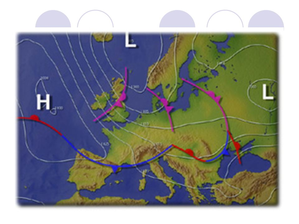 Het in kaart brengen van hoge en lage drukgebieden:  Luchtdruk meten op verschillende plaatsen  Plaatsen met gelijke luchtdruk verbinden met een lijn: Isobar