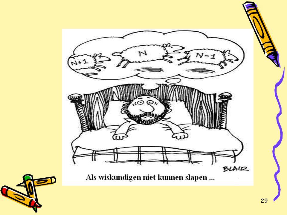 30 Tweede leerjaar (a): algebraïsch rekenen Voor de meesten: beperkt gebruik algebraïsche rekenvaardigheid.