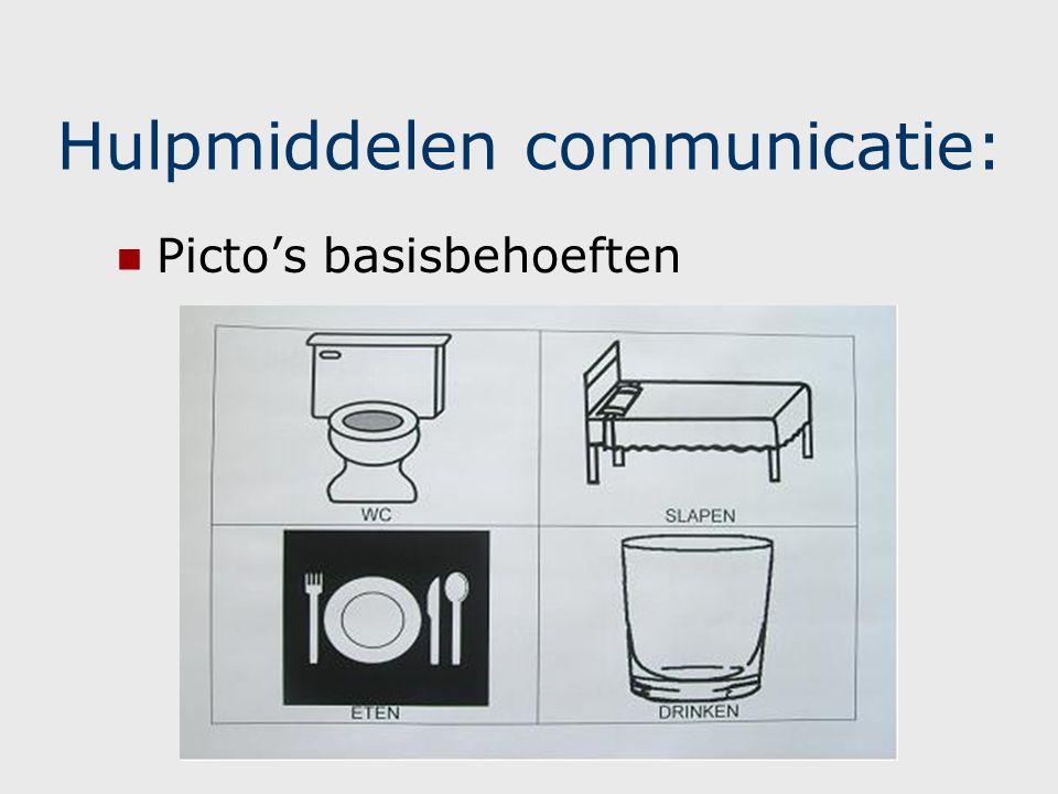 Hulpmiddelen communicatie: Communicatiebord
