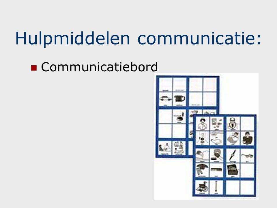 Hulpmiddelen communicatie: Geïndividualiseerd communicatiesysteem