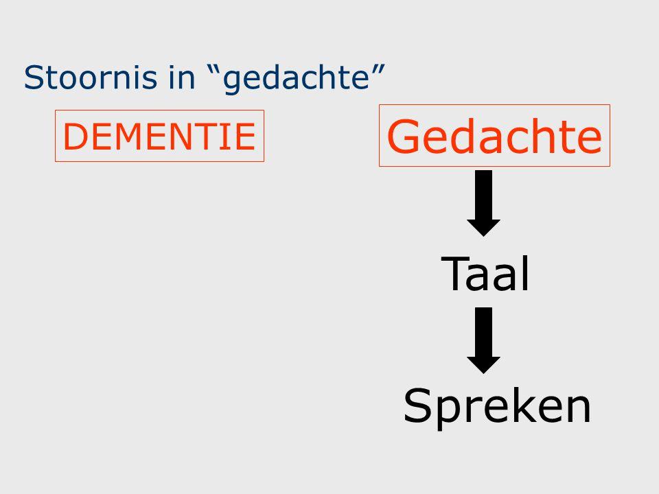 Stoornis in taal Idee Spreken Taal AFASIE