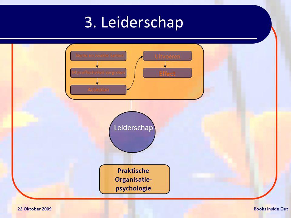22 Oktober 2009Books Inside Out Gedragsvaardigheden voor leidinggevenden Charismatisch leiderschap 1.